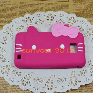 Pink blue hello kitty Silicone back Case cover for Samsung Galaxy S2