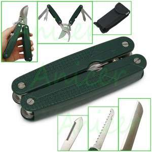 Fold up Foldaway Pocket Metal Multi Tool Garden Shears Knife Saw