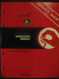 John Deere 52 Log Splitter Operator Manual