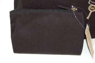 New MICHAEL KORS Hamilton Trompe Loeil Black Tote Handbag & Cosmetic