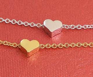 1Tiny Tiny Mini Heart Charm Necklace P For Kids &Adults