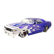 1969 Chevy Camaro   Blue with White Flames   Jada Toys