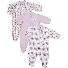 Gerber Girls 3 Pack Sleep n Play Outfits   Pink (3 6 Months)   Gerber