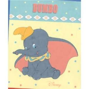 Disney Dumbo Toddler Plush Blanket 43x50 Inches Home