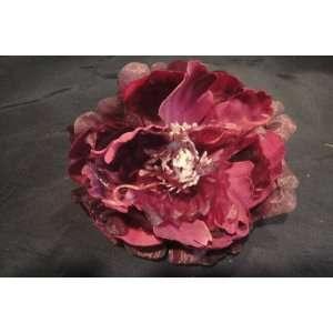 Tanday Purple Peony Bellas Rose Flower Hair Clip