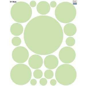 Wall Dots (21) Sage Green Polka Dot Wall Sticker Appliques