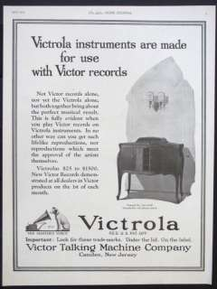 TALKING MACHINE Victrola Phonograph magazine Ad record player s667