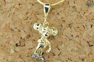 14 K Yellow Gold Children Mickey Mouse Pendant