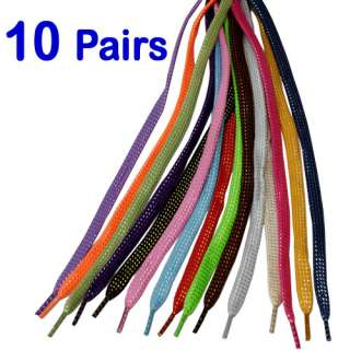 10 Pairs Silver Gold Thread Glitter Sparkle Flat Shoelaces Shoe String