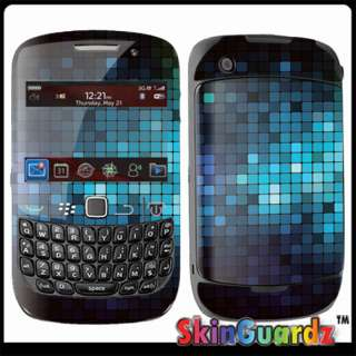 Mosaic Blue Black Vinyl Case Decal Skin To Cover BLACKBERRY CURVE 8520