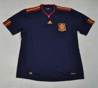 ADIDAS Spain Away Soccer Jersey Blue Red Yellow SS Shirt XXL