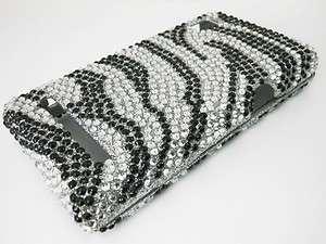 BLING DIAMOND ZEBRA PHNOE COVER CASE 4 MOTOROLA DROID II 2 A955 GLOBAL