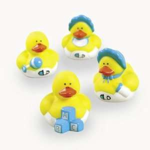 Mini Baby Boy Shower Rubber Duckies   Novelty Toys & Rubber Duckies