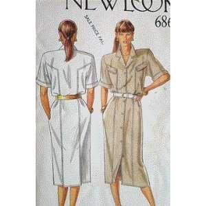 80s Vintage/Uncut New Look 6862 Sewing Pattern Dress