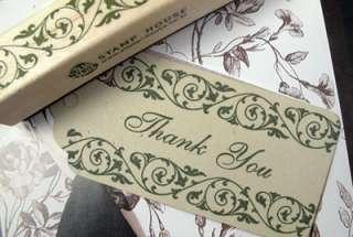 Decorative Stamps Border Rubber Stamp_Ivy swirls vine