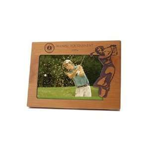Lady Golfer Wood Picture Frame