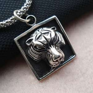 Animal Jewelry for Men Tiger Pendant Stellar Necklace for