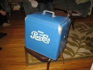 vintage 1950s pepsi cola cooler with tray ice box soda pop coke picnic