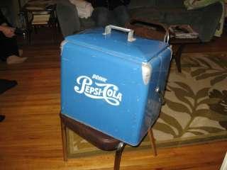 vintage 1950s pepsi cola cooler with tray ice box soda pop coke picnic