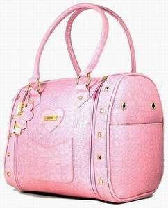 Cute Faux Leather Small Dog Puppy Pet Purse Carrier Travel Tote Crate
