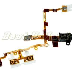 Black Headphone Audio Jack Ribbon Flex Cable For iPhone 3G 3GS US