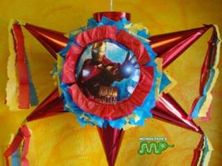 Pinata Iron Man B Day Party Holds Candy Star Shaped