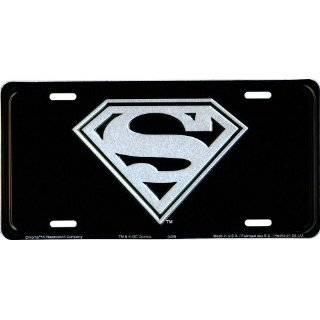 Superman License Plate (New Style Black)