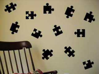 35 Puzzle Pieces Vinyl Decal Wall Art Decor Stickers