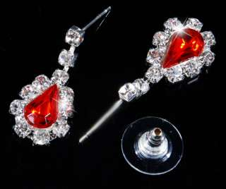 alloy acrylic main color red series jewelry set sort necklace earring