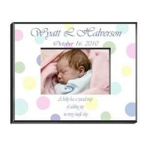 Baby Polka Dot Personalized Childrens Frame Baby