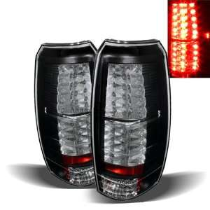 07 10 Chevy Avalanche Black LED Tail Lights Automotive