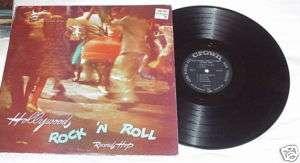 ROCK & ROLL LP HOLLYWOOD ROCK N ROLL RECORD HOP