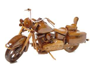 HARLEY DAVIDSON HERTIAGE SOFTAIL WOODEN WOOD MOTORCYCLE BIKE DESK