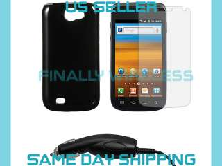 TPU Rubber Case+LCD Cover+Car Charger Samsung Exhibit II 2 4G SGH T679