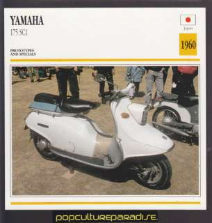 1960 YAMAHA 175 SC1 SCOOTER MOTORCYCLE PHOTO SPEC CARD