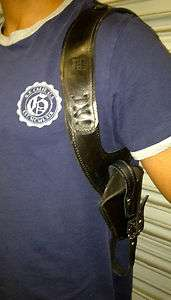 NEW  All Leather Diagonal Shoulder Holster, all model sidearms 2 ammo