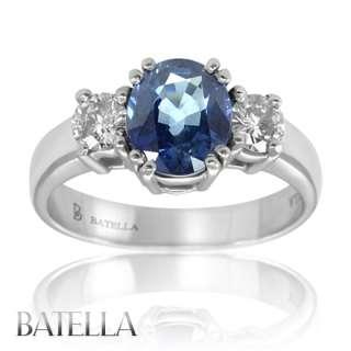 82 Ct Oval Shape Blue Sapphire Gemstone With White Round Diamonds