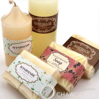 3Type Handmade Deco Label For Soap,Baking,Candle, Multi Purpose Gift
