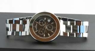 Tungsten Wrist Watch GR4001M Chronograph Mens Black Dial Silver