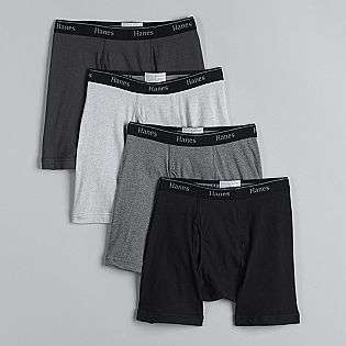 Mens 4 Pack Stretch Boxer Briefs  Hanes Clothing Mens Underwear