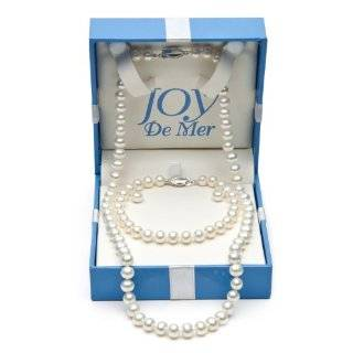 18 7 8mm White Freshwater Pearl and Sterling Silver Necklace, 7.5