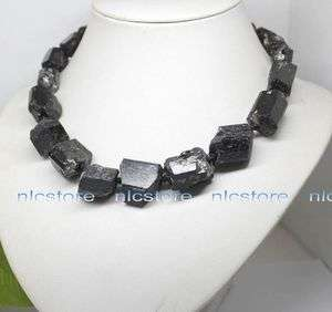 Natural black Tourmaline big chunk stone necklace gemstone |