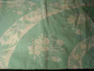 Beautiful Pastel Green & White Table Top Cover STUNNING