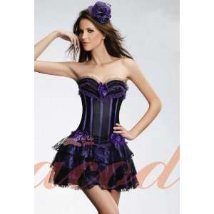 For Corset   Lace Layers Skirt   Purple   L (In Stock