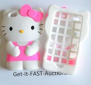 Silicone PINK Hello Kitty Case For iPhone 4 G 4G 4S Cover Skin