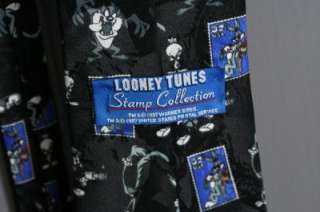 Mens Cartoon Tie Looney Tunes Stamp Collection Taz Bugs