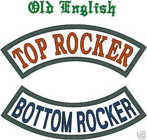 CUSTOM EMBROIDERED MOTORCYCLE ROCKER PATCH