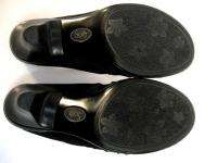 Black Suede & Leather Mules Slides Clogs Shoes Sz Size 8 Medium