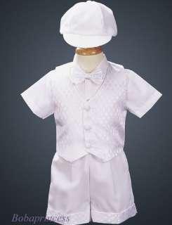NEW INFANT/TODDLER BOY Tuxedo SHORT SET WHITE Sz S 4T