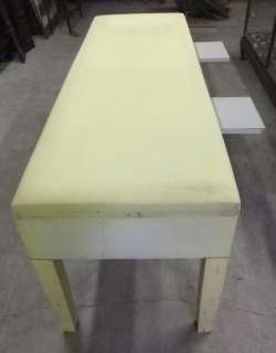 Antique Vintage Mid Century 6' Medical Exam Table Yellow